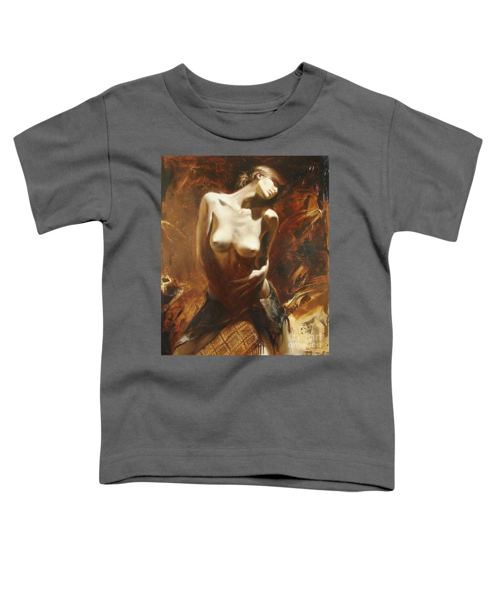 Oil Toddler T-Shirt featuring the painting The Incinerating Passion by Sergey Ignatenko
