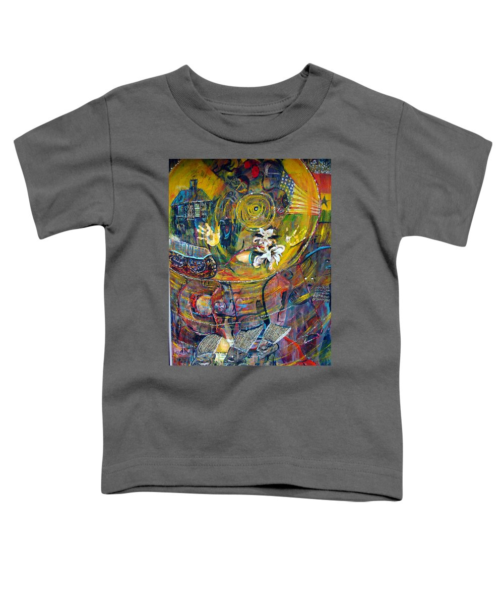 Figures Toddler T-Shirt featuring the painting The Journey by Peggy Blood