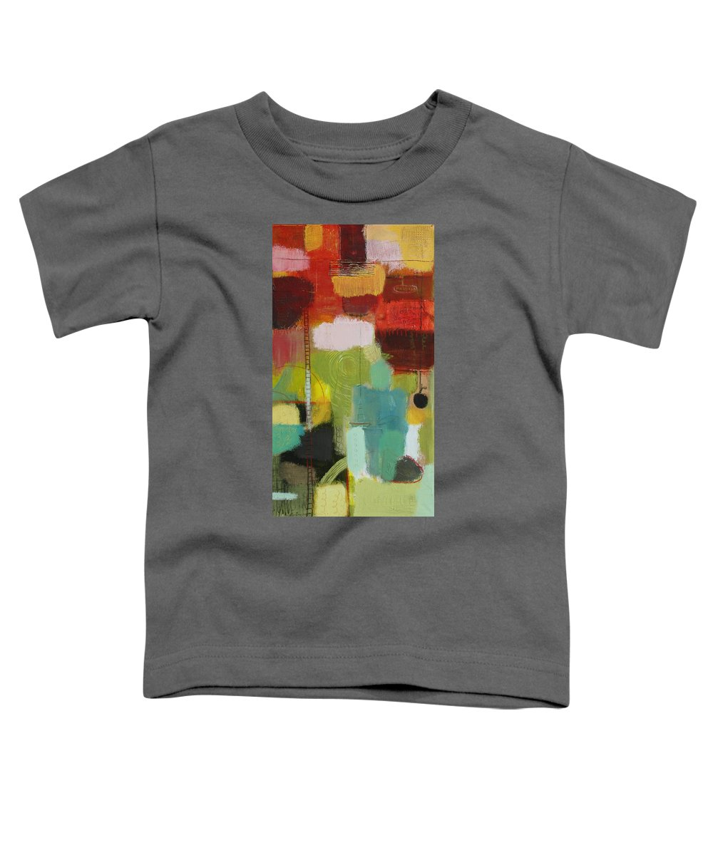 Abstract Toddler T-Shirt featuring the painting The Ladder Of Life by Habib Ayat