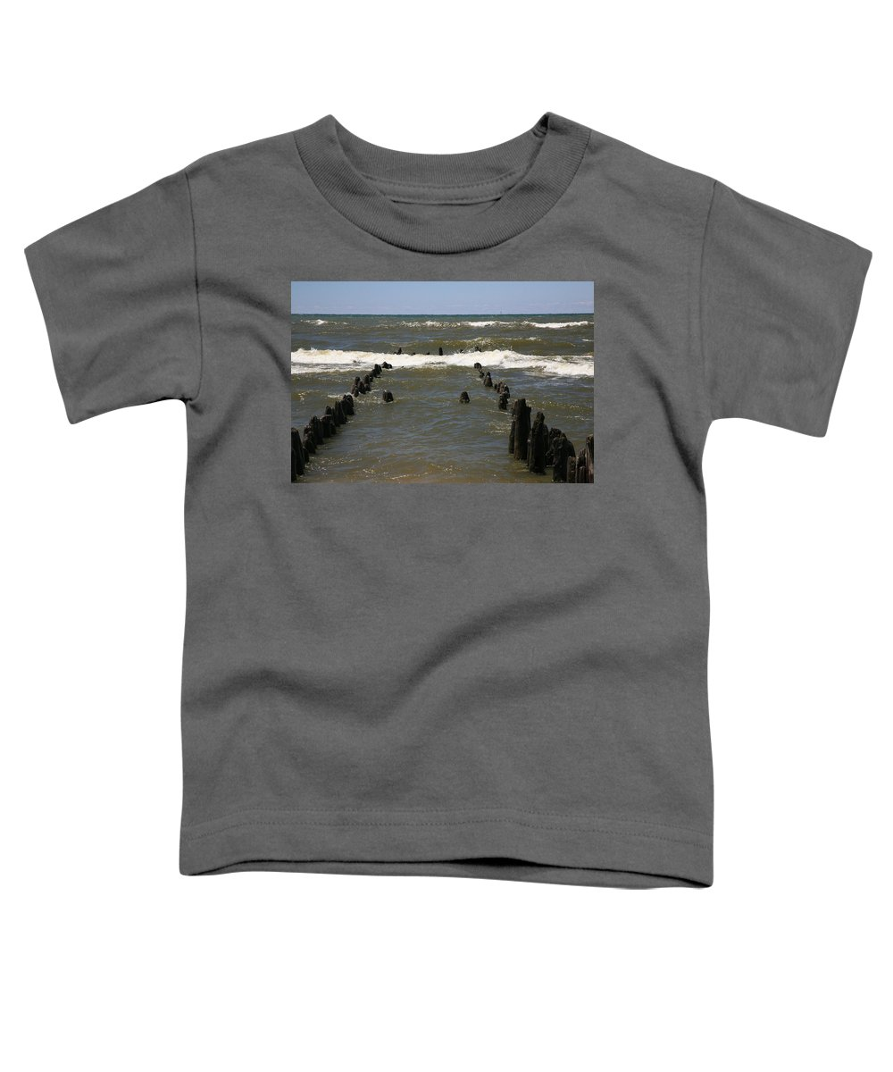 Sand Surf Toddler T-Shirt featuring the photograph The Last Wooden Pier by Robert Pearson