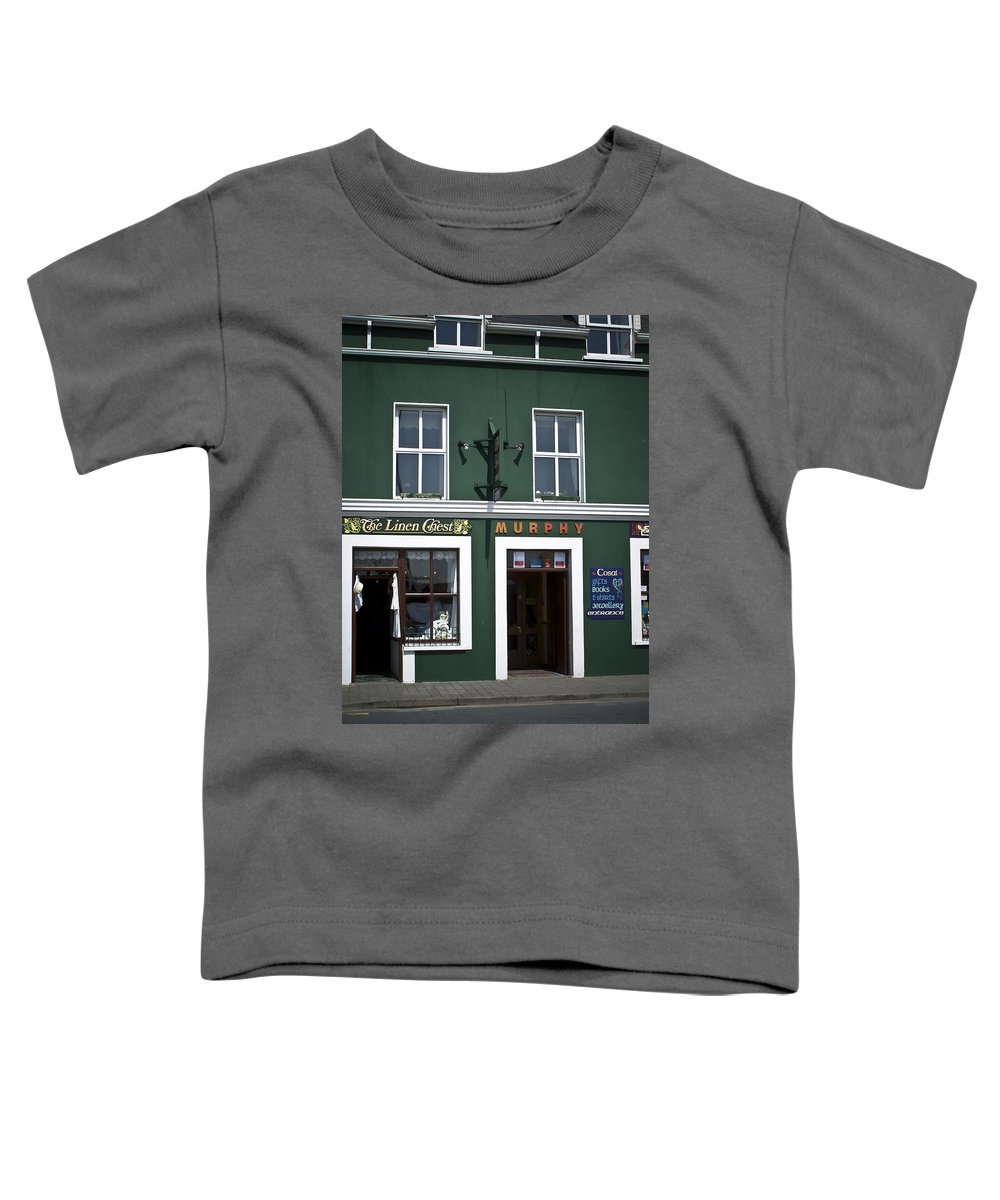 Irish Toddler T-Shirt featuring the photograph The Linen Chest Dingle Ireland by Teresa Mucha