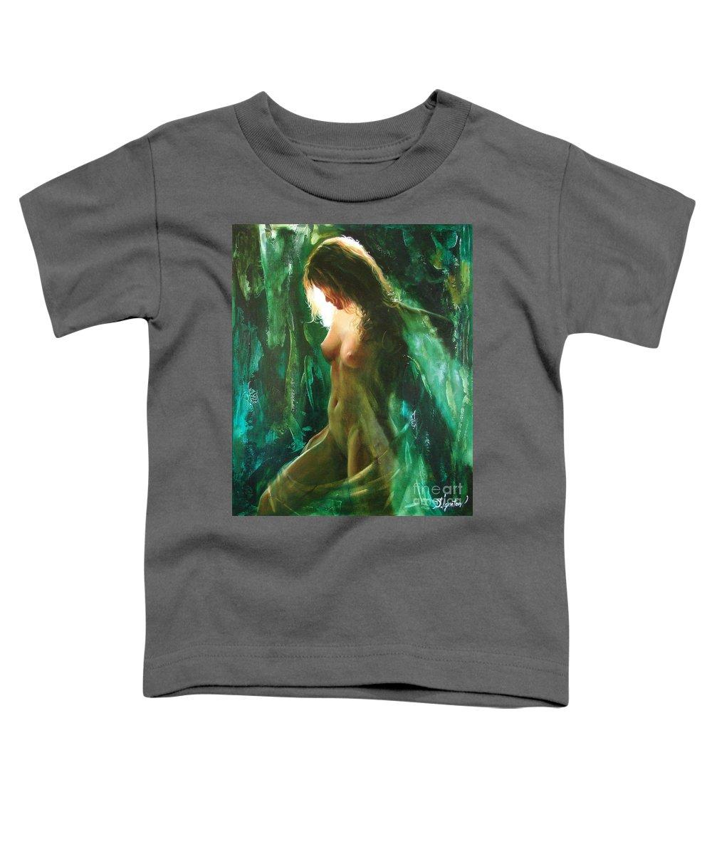Art Toddler T-Shirt featuring the painting The Malachite Light by Sergey Ignatenko