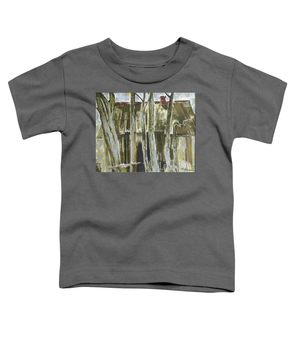 Oil Toddler T-Shirt featuring the painting The Past Space by Sergey Ignatenko