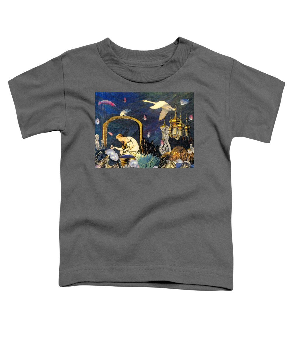 Surealism Toddler T-Shirt featuring the mixed media The Pearl Of Great Price by Gail Kirtz
