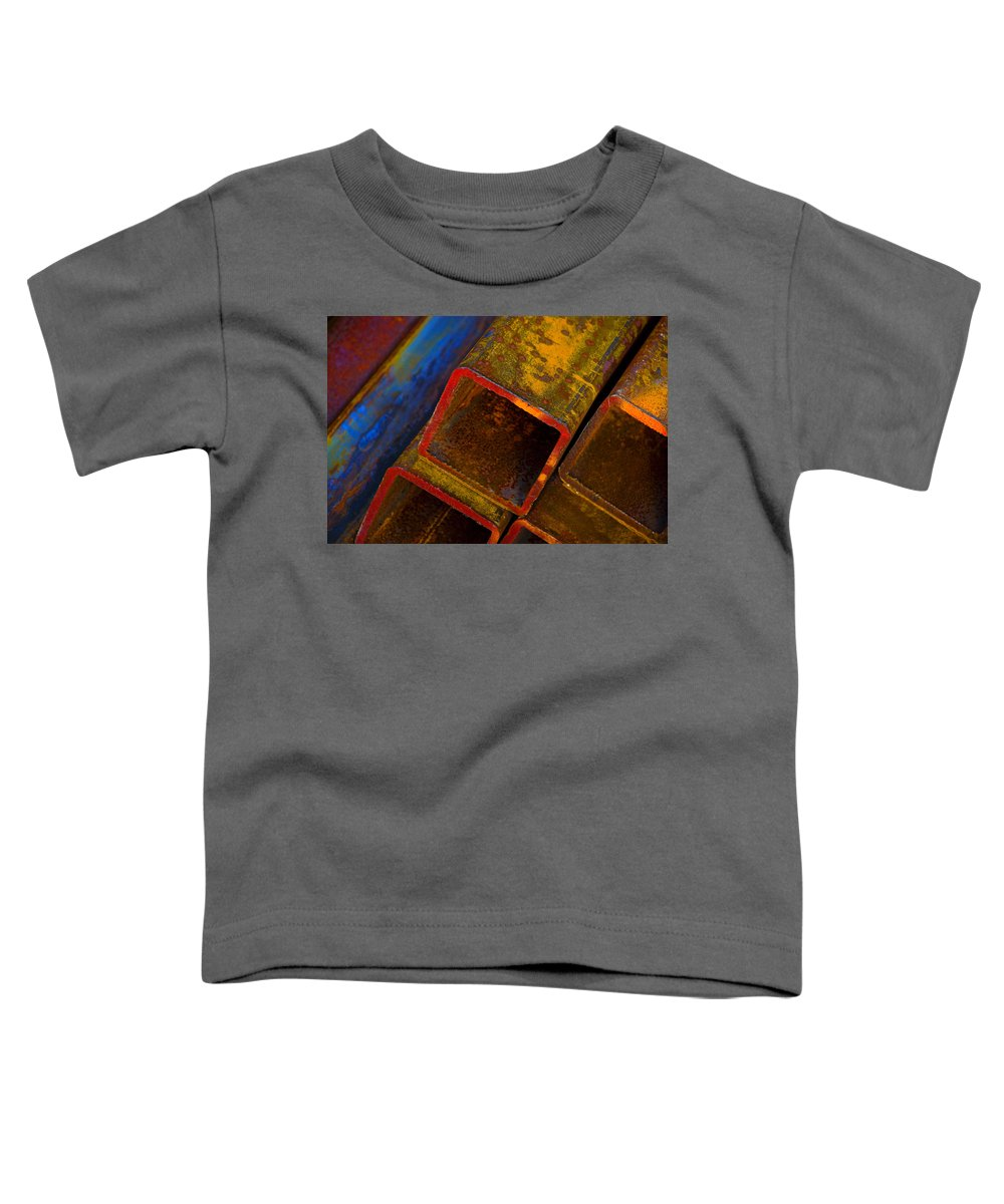 Abstract Toddler T-Shirt featuring the photograph The River by Skip Hunt
