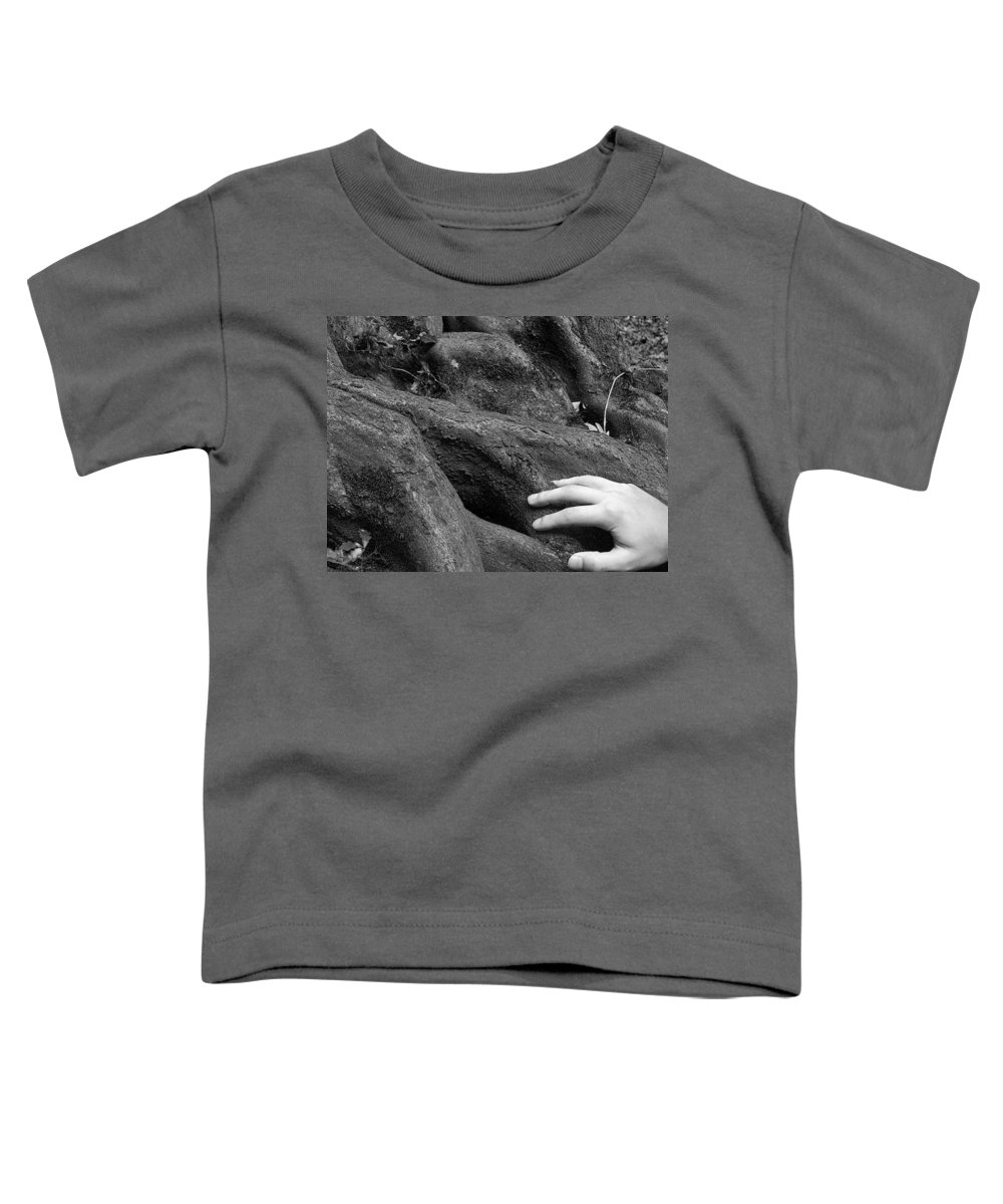 Nature Toddler T-Shirt featuring the photograph The Roots by Daniel Csoka