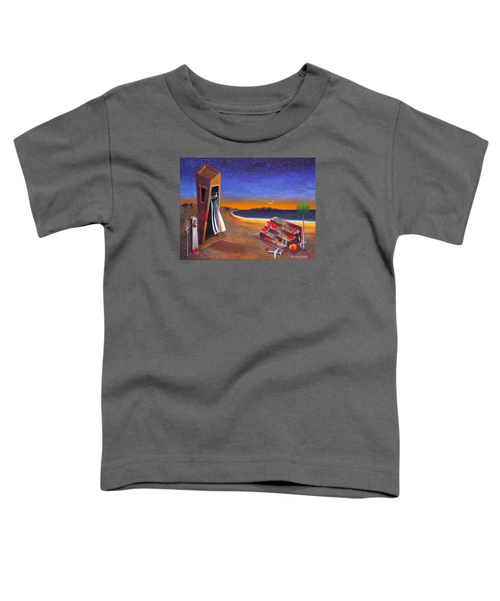 Landscape Toddler T-Shirt featuring the painting The School Of Metaphysical Thought by Dimitris Milionis