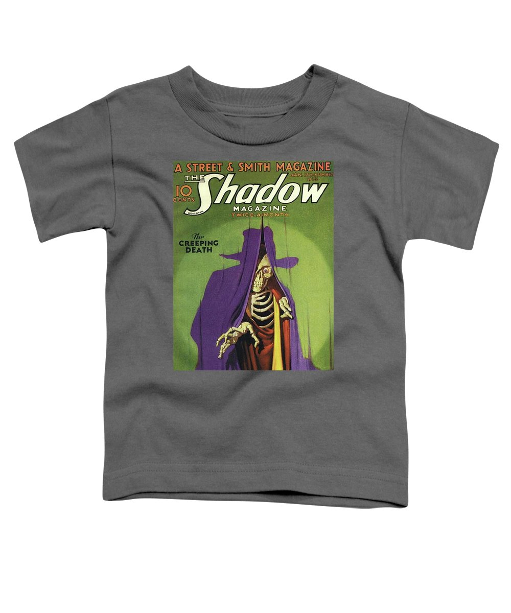 The Shadow Toddler T-Shirt featuring the painting The Shadow The Creeping Death by Conde Nast