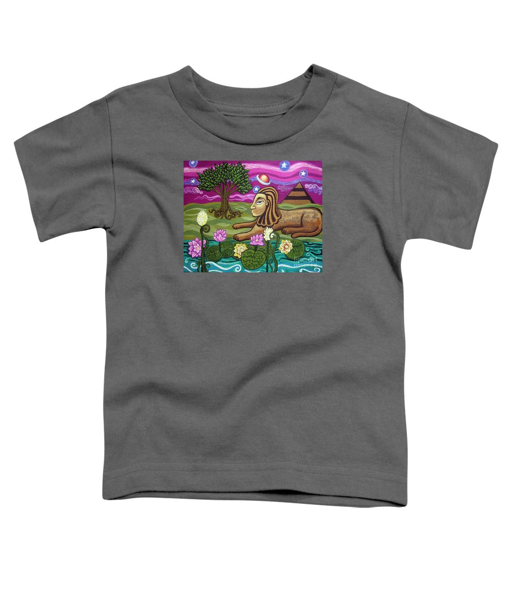 Egypt Toddler T-Shirt featuring the painting The Sphinx by Genevieve Esson