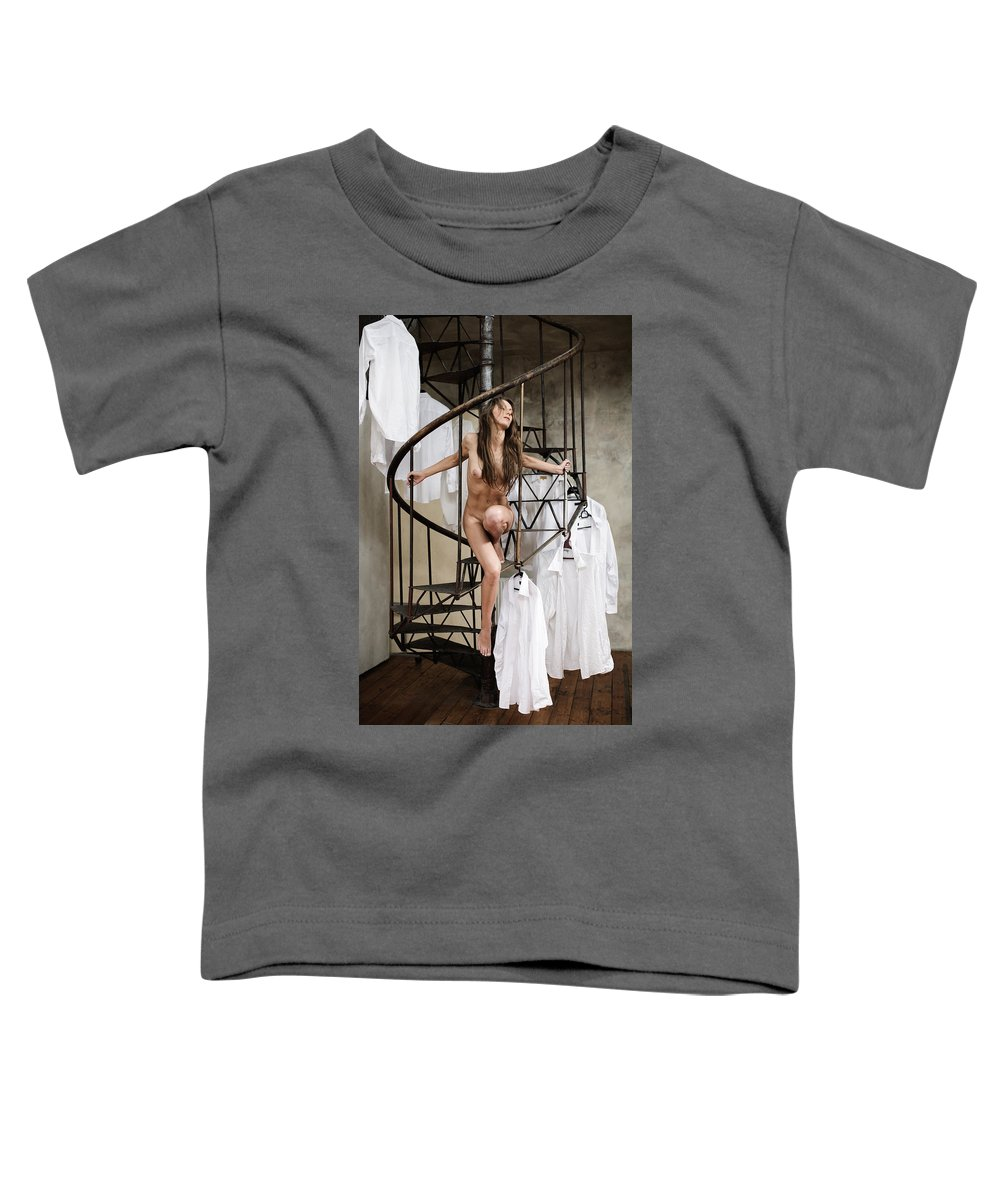 Sensual Toddler T-Shirt featuring the photograph The Stairs by Olivier De Rycke
