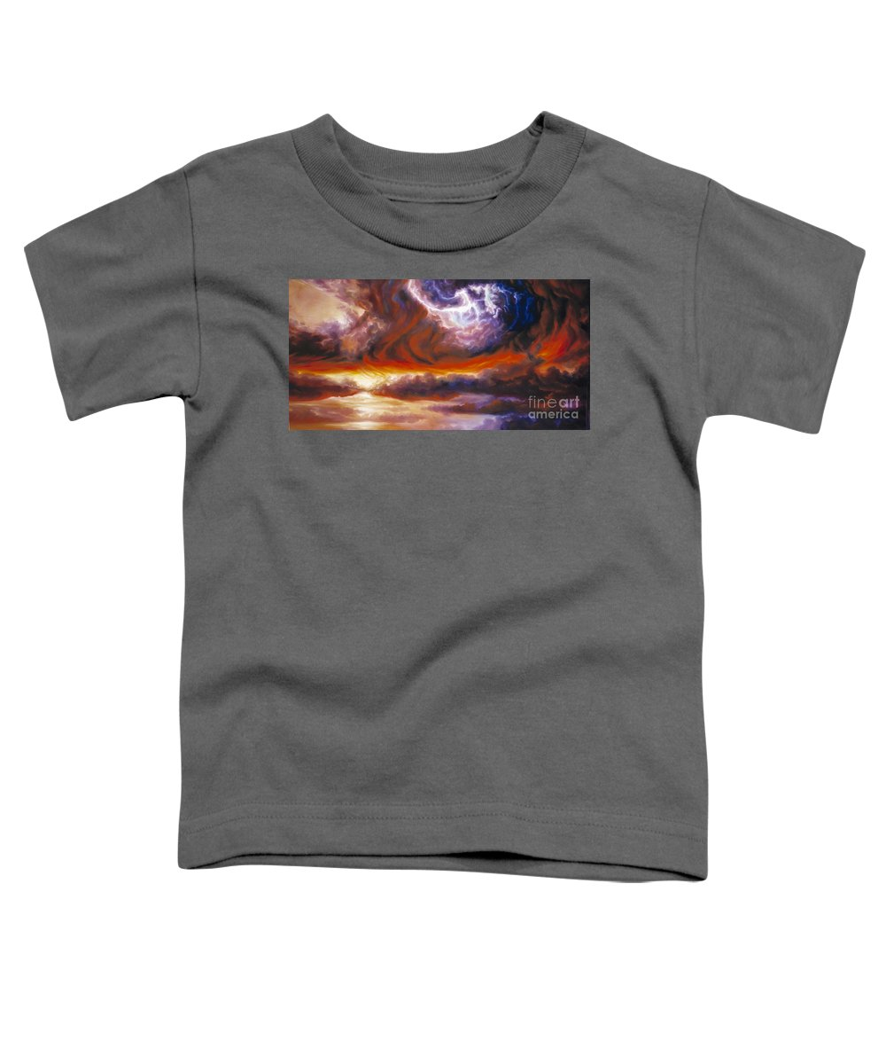 Tempest Toddler T-Shirt featuring the painting The Tempest by James Christopher Hill