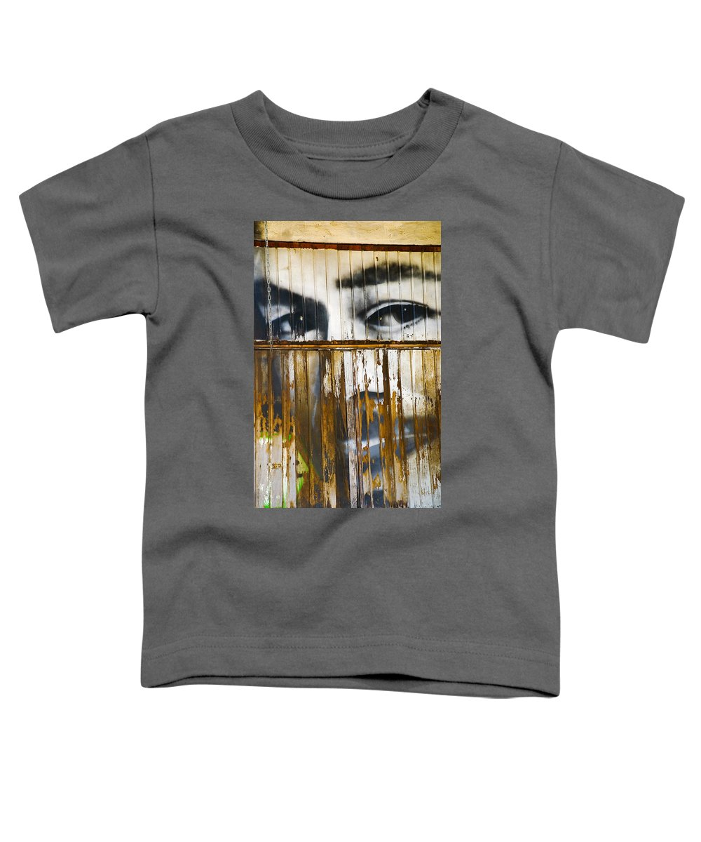 Escondido Toddler T-Shirt featuring the photograph The Walls Have Eyes by Skip Hunt