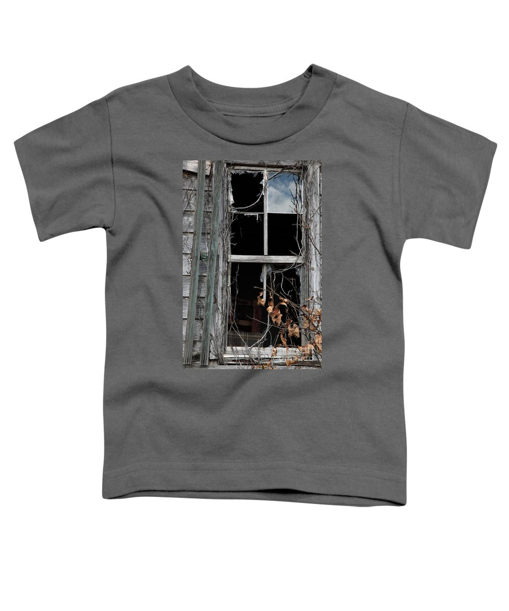 Windows Toddler T-Shirt featuring the photograph The Window by Amanda Barcon