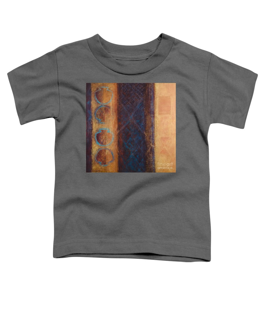 Abstract Toddler T-Shirt featuring the painting The X Factor Alchemy Of Consciousness by Kerryn Madsen-Pietsch