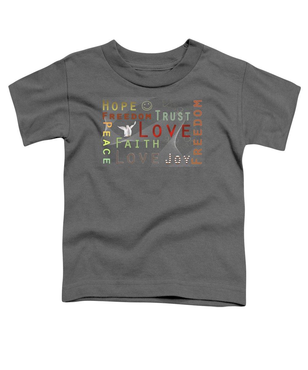 Fine Toddler T-Shirt featuring the digital art Think Positive by Jutta Maria Pusl
