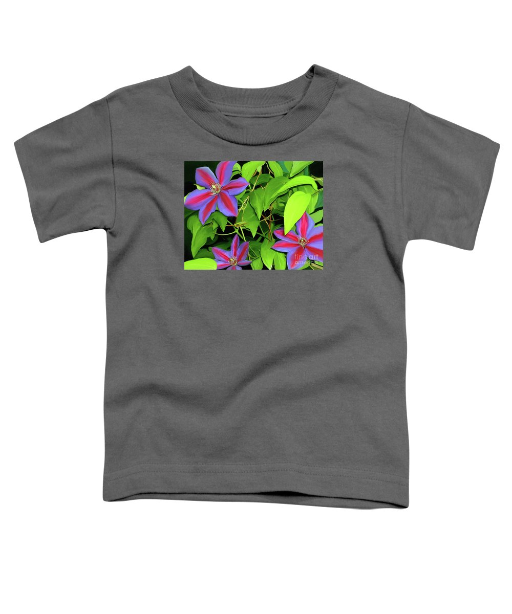 Mixed Media Art Toddler T-Shirt featuring the painting Three Jacks by Patricia Griffin Brett
