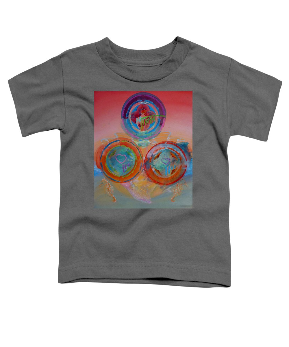 Logo Toddler T-Shirt featuring the painting Three On Marine by Charles Stuart