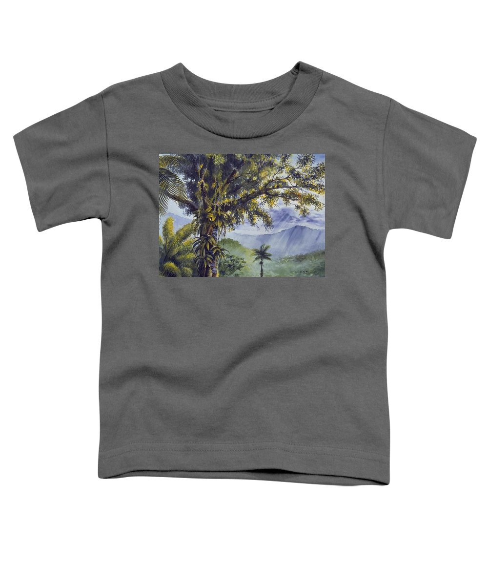 Chris Cox Toddler T-Shirt featuring the painting Through The Canopy by Christopher Cox