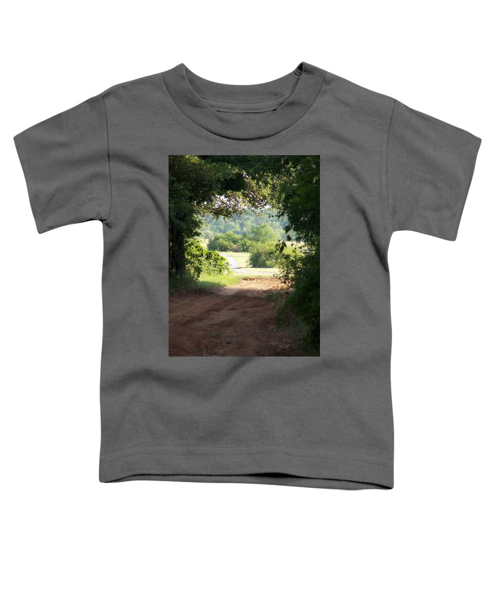 Woods Toddler T-Shirt featuring the photograph Through The Woods by Gale Cochran-Smith