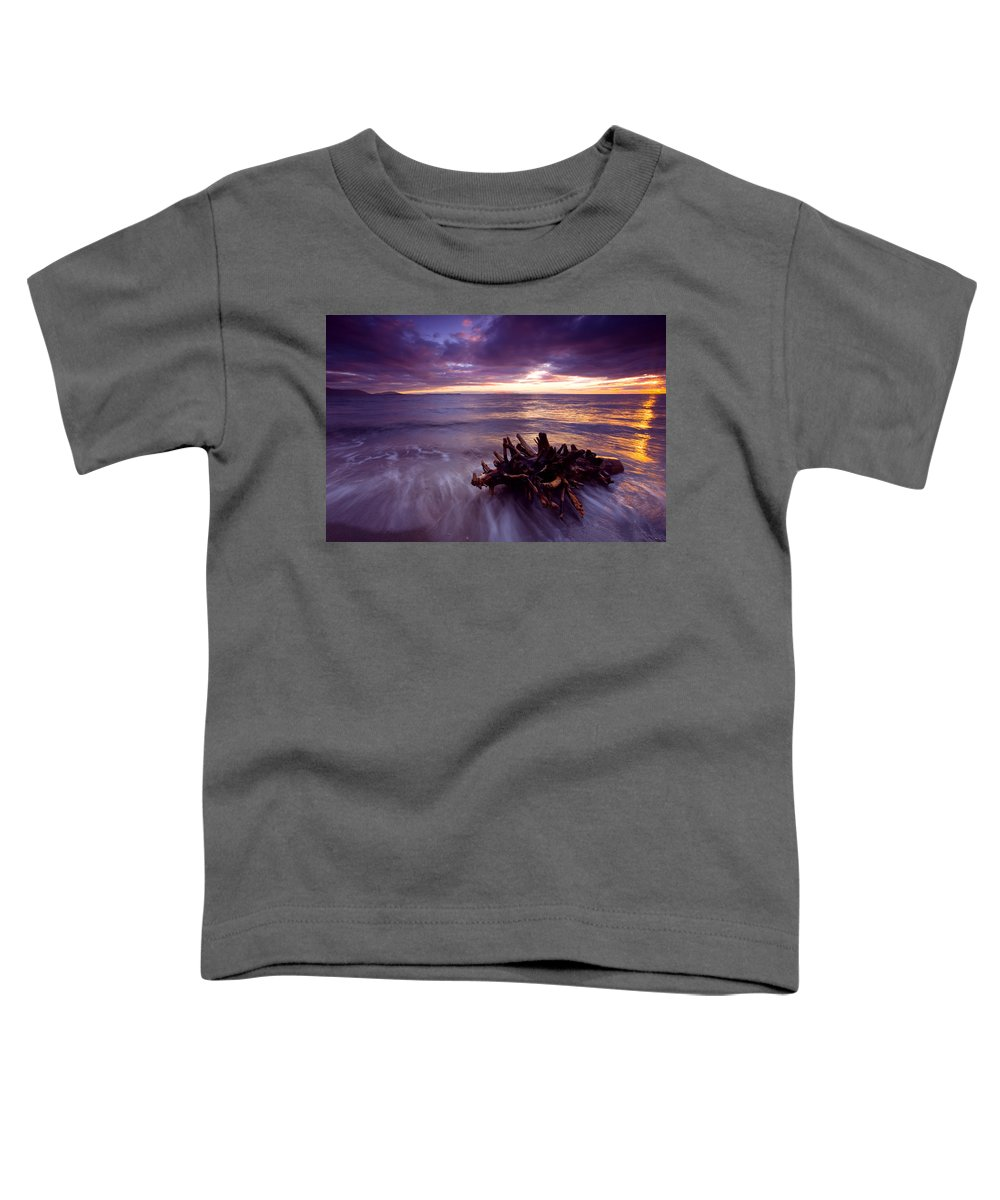 Sunset Toddler T-Shirt featuring the photograph Tide Driven by Mike Dawson