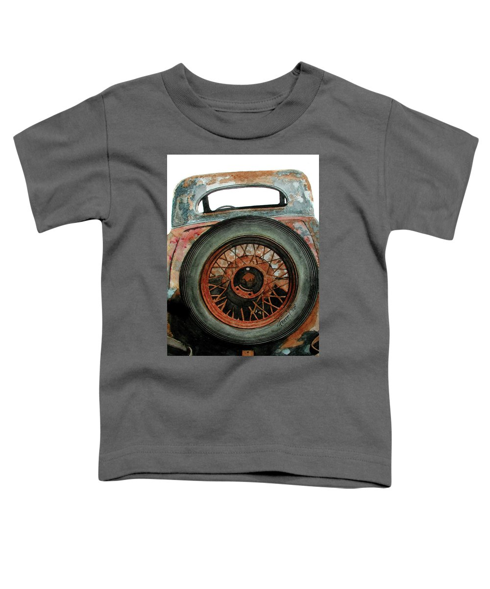 Car Toddler T-Shirt featuring the painting Tired by Ferrel Cordle