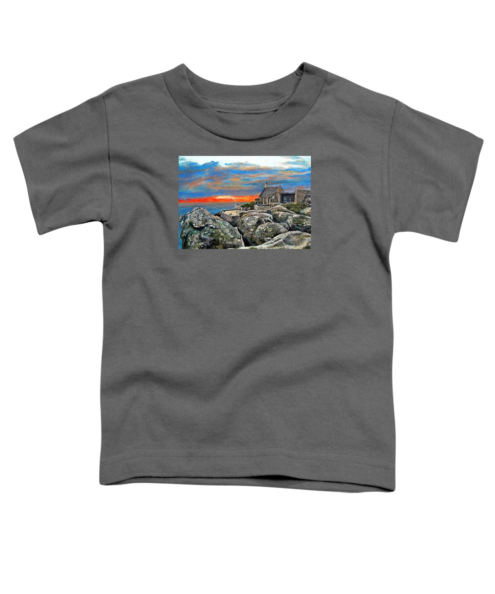 Sunset Toddler T-Shirt featuring the painting Top Of Table Mountain by Michael Durst