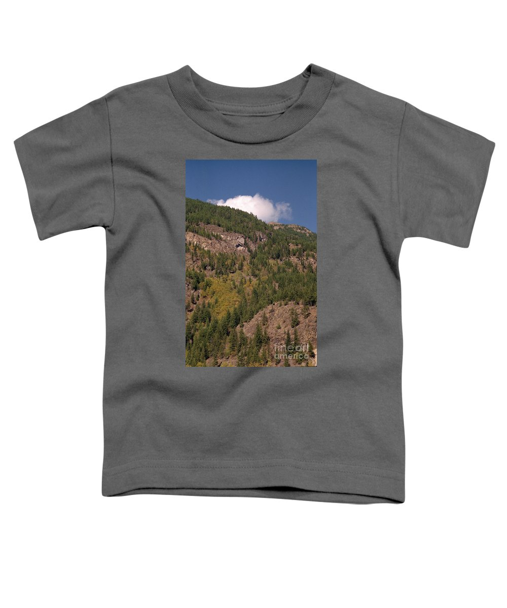 Mountains Toddler T-Shirt featuring the photograph Touching The Clouds by Richard Rizzo