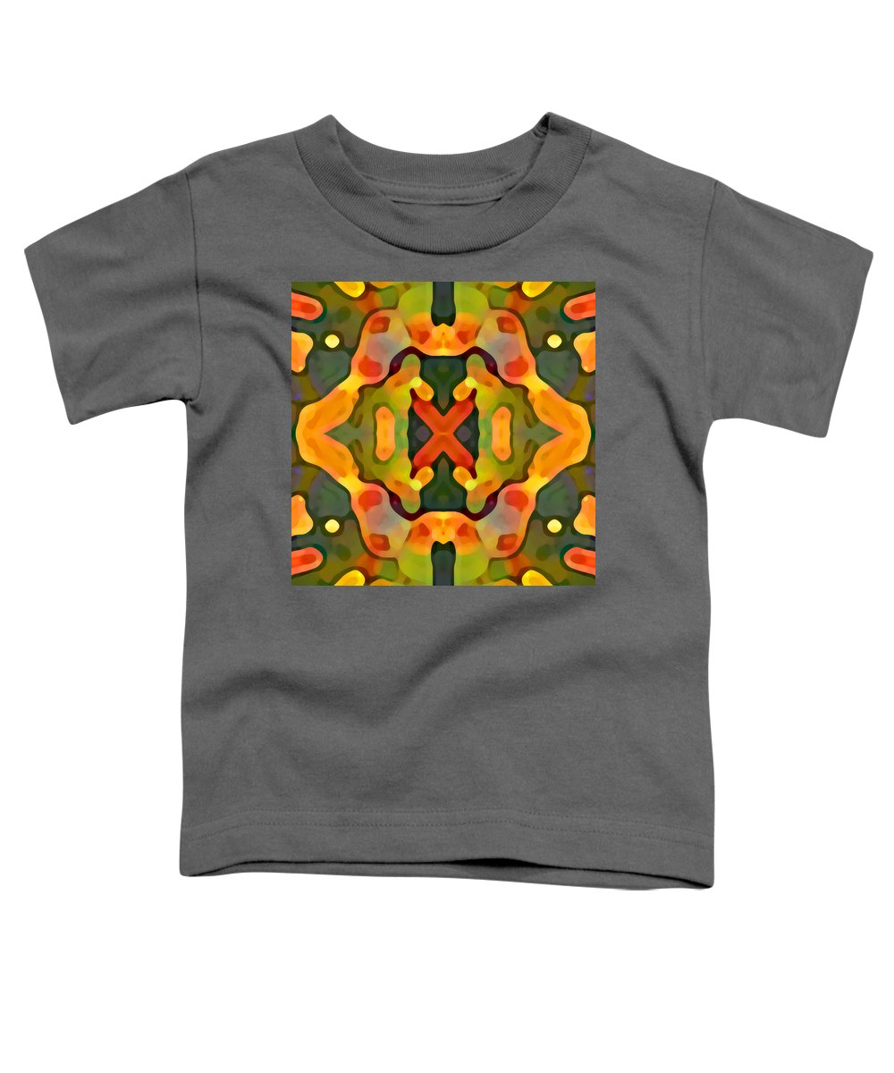 Abstract Toddler T-Shirt featuring the painting Treasure by Amy Vangsgard