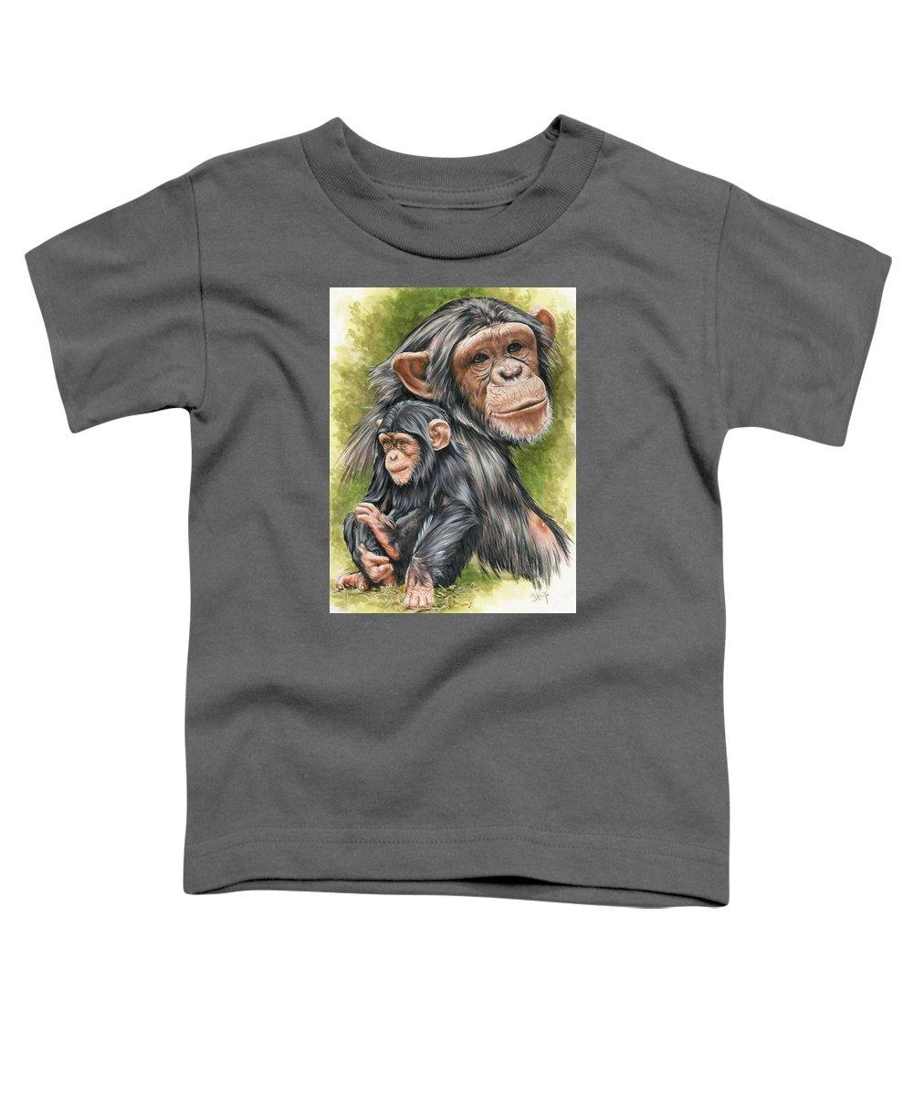 Chimpanzee Toddler T-Shirt featuring the mixed media Treasure by Barbara Keith