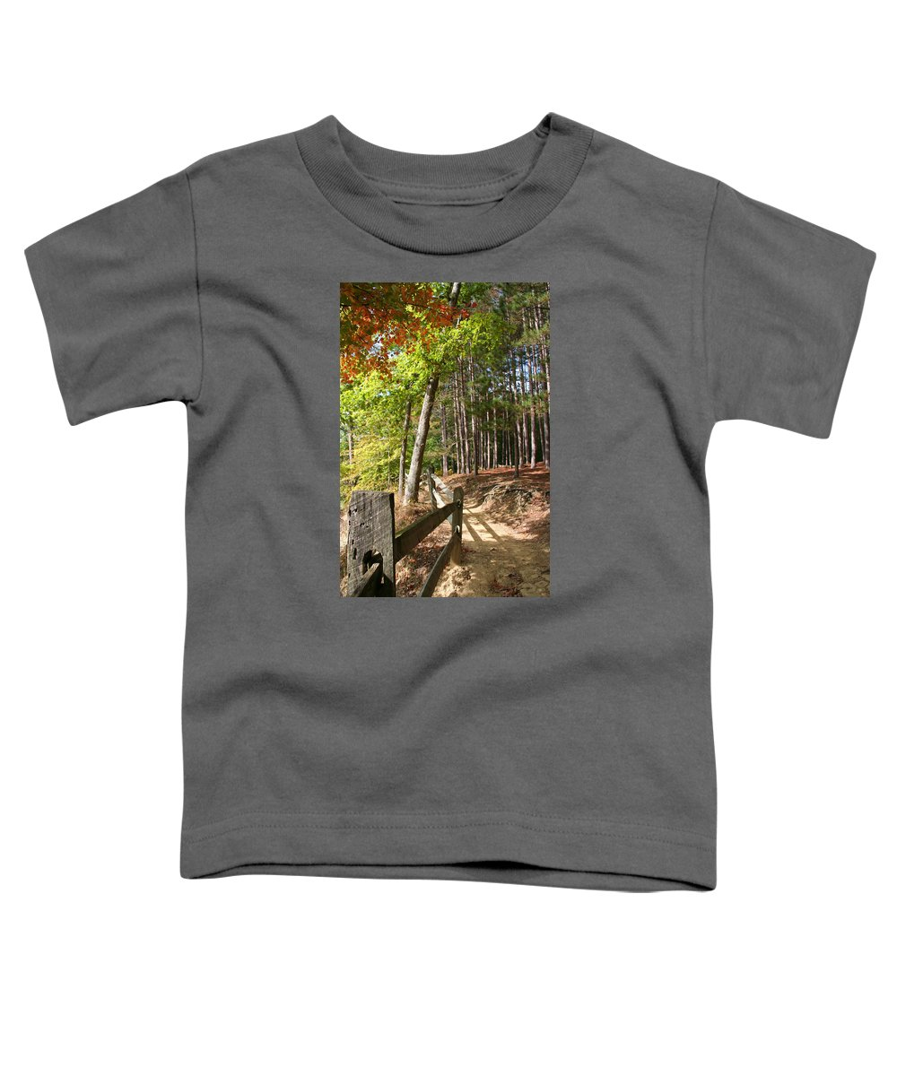 Tree Toddler T-Shirt featuring the photograph Tree Trail by Margie Wildblood