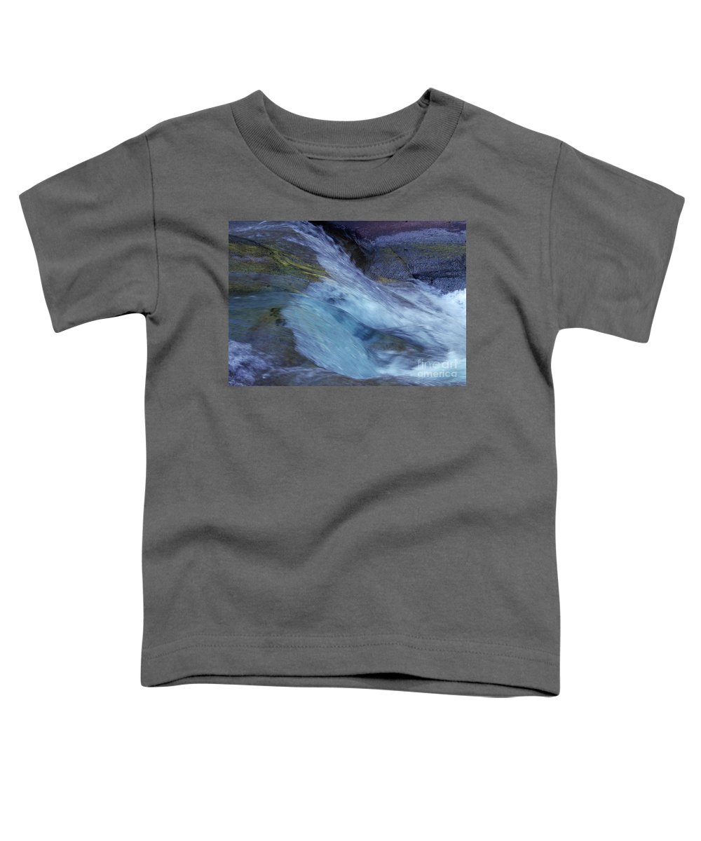Nature Toddler T-Shirt featuring the photograph Tropical Flowing Waters by Kerryn Madsen- Pietsch