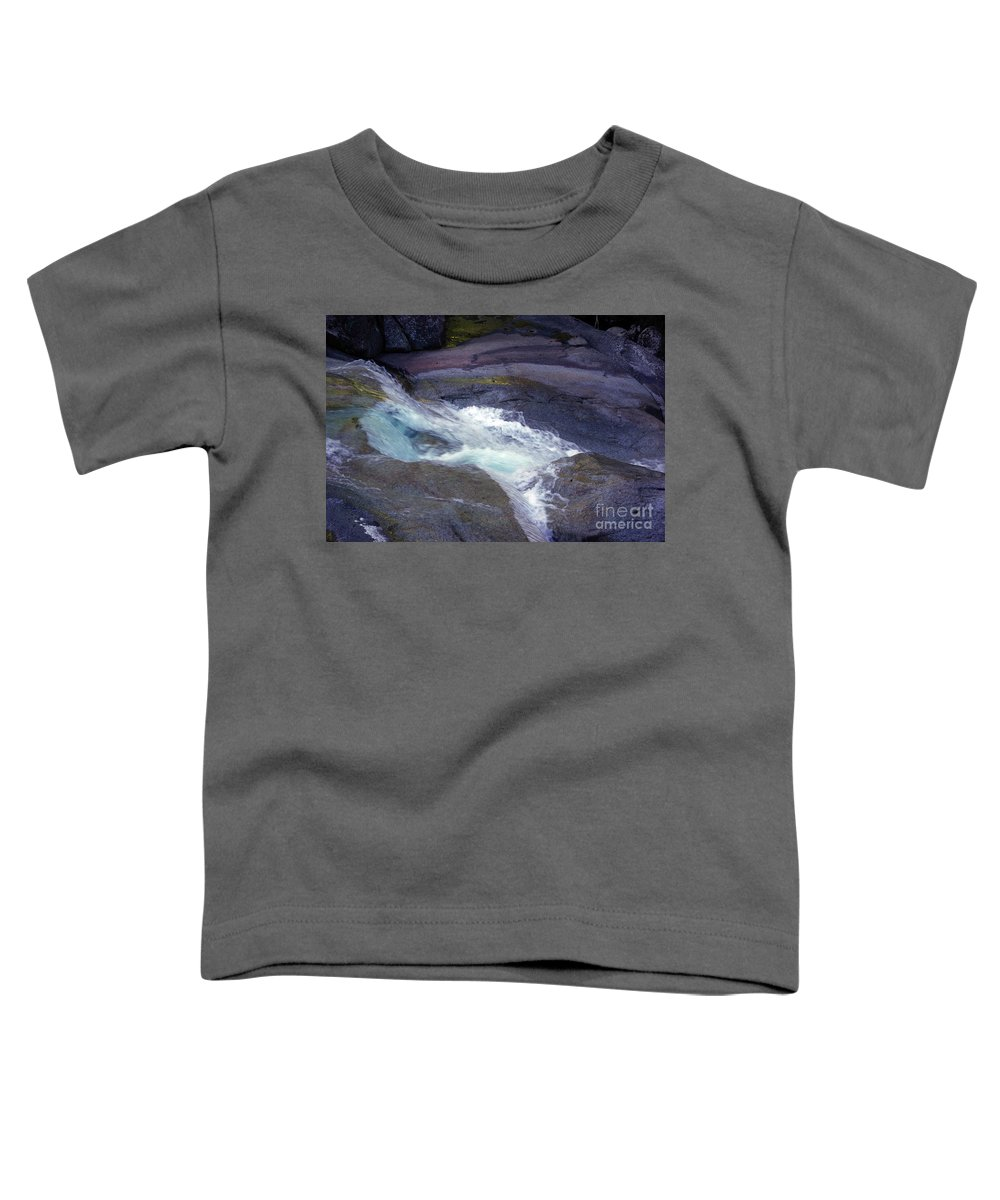 Flowing Toddler T-Shirt featuring the photograph Tropical Water Bird Josephine Falls by Kerryn Madsen- Pietsch