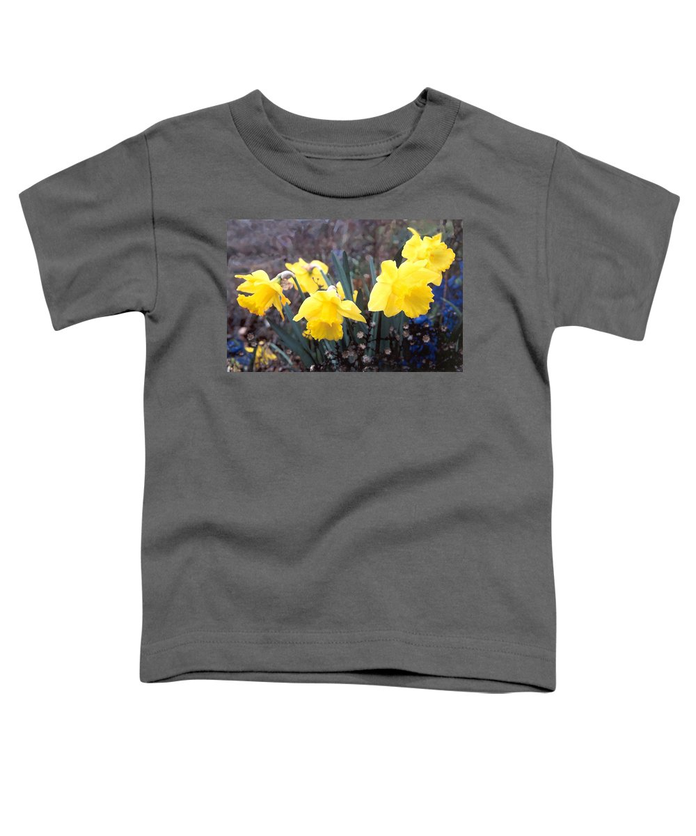 Flowes Toddler T-Shirt featuring the photograph Trumpets Of Spring by Steve Karol