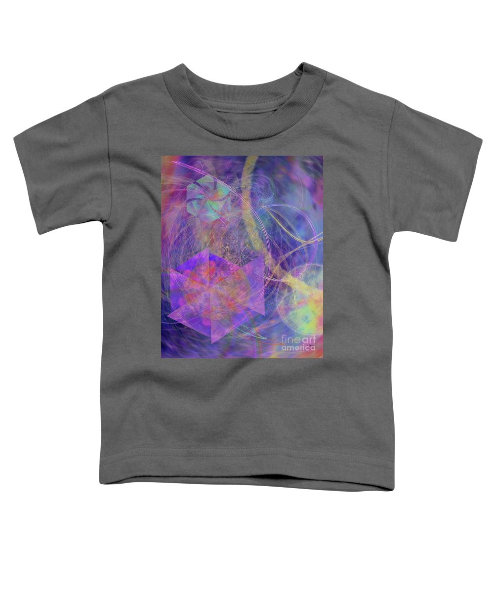 Turbo Blue Toddler T-Shirt featuring the digital art Turbo Blue by John Beck