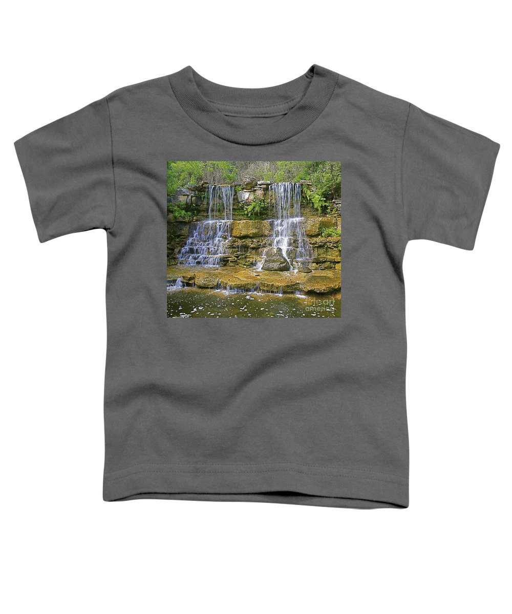 Waterfalls Toddler T-Shirt featuring the photograph Twin Falls by Robert Pearson