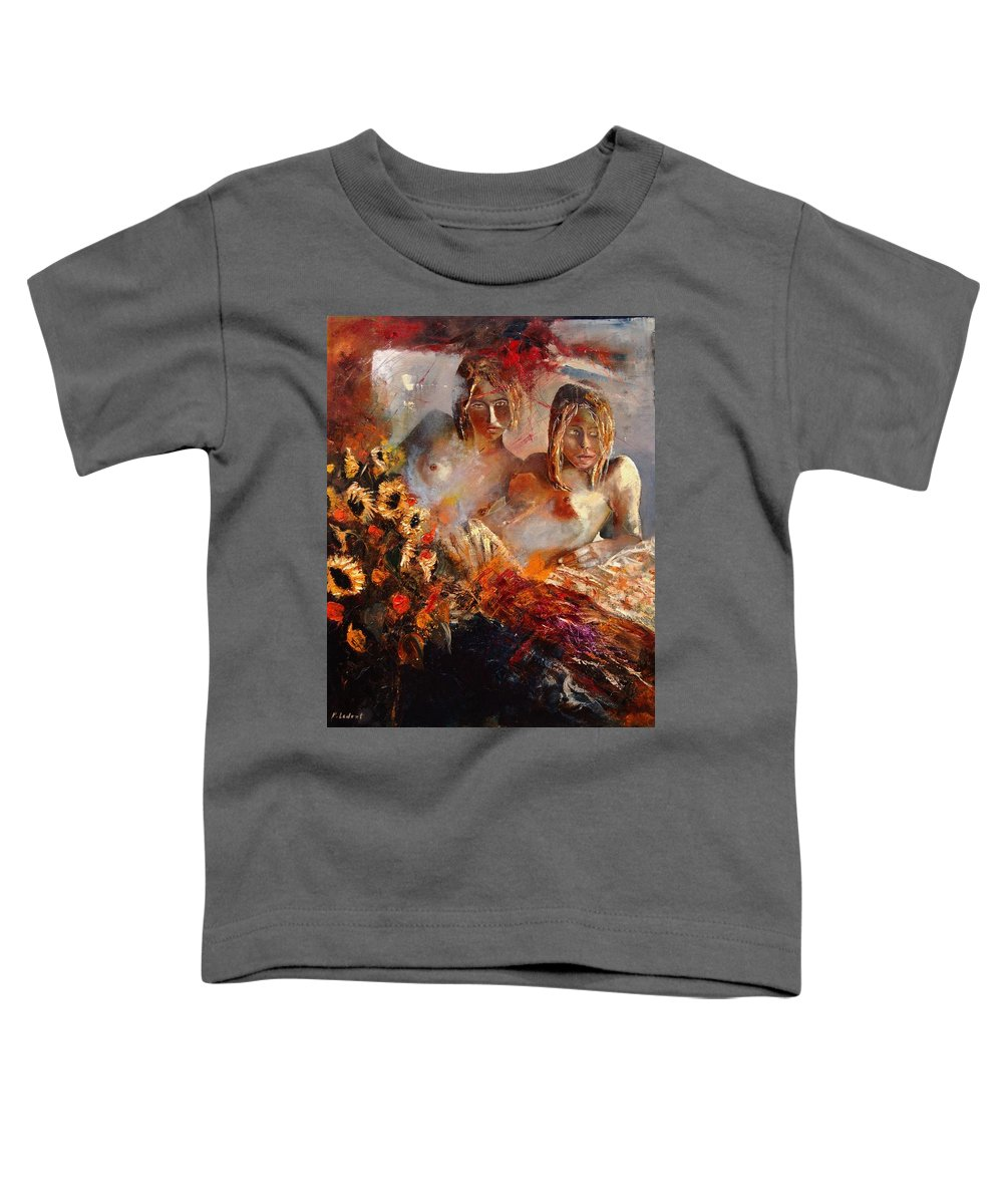 Girl Nude Toddler T-Shirt featuring the painting Two Friends by Pol Ledent