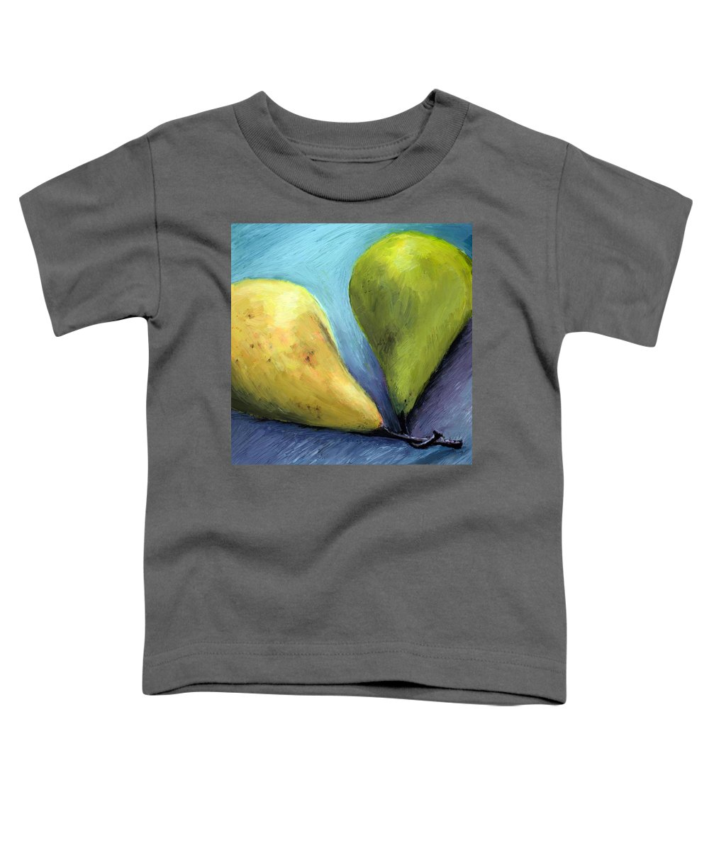 Pear Toddler T-Shirt featuring the painting Two Pears Still Life by Michelle Calkins