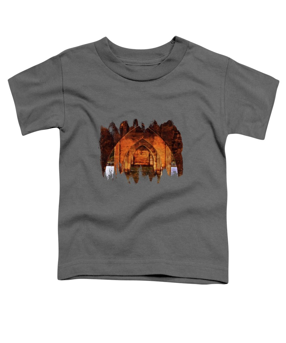 Bridges Toddler T-Shirt featuring the photograph Under The Siuslaw River Bridge by Thom Zehrfeld
