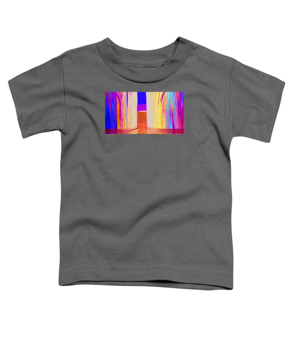 Landscape. Norwegian Title dragsug Toddler T-Shirt featuring the painting Undertow. by Jarle Rosseland