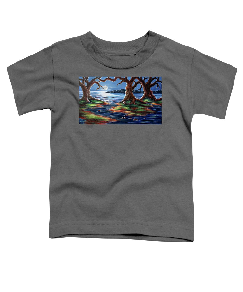 Textured Painting Toddler T-Shirt featuring the painting United Trees by Jennifer McDuffie