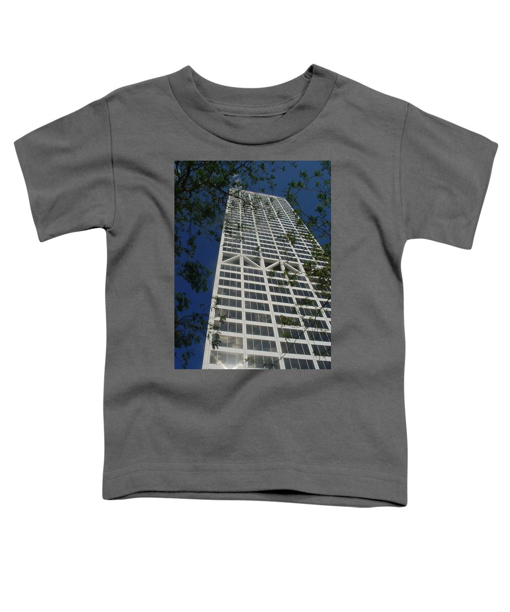 Us Bank Toddler T-Shirt featuring the photograph Us Bank With Trees by Anita Burgermeister