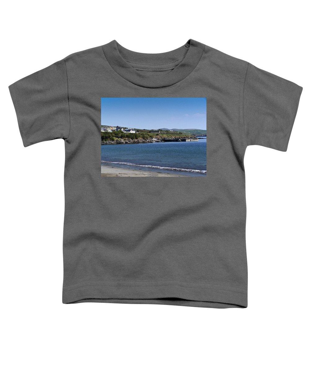 Irish Toddler T-Shirt featuring the photograph Ventry Beach And Harbor Ireland by Teresa Mucha