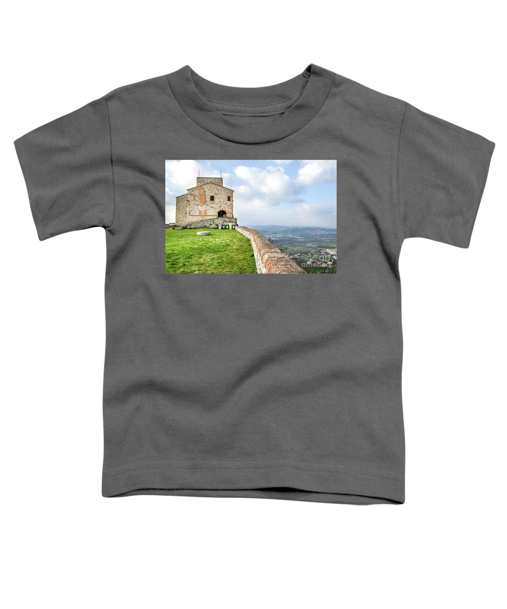 Architecture Toddler T-Shirt featuring the photograph Verucchio Rimini Emilia Romagna Italy Travel by Luca Lorenzelli