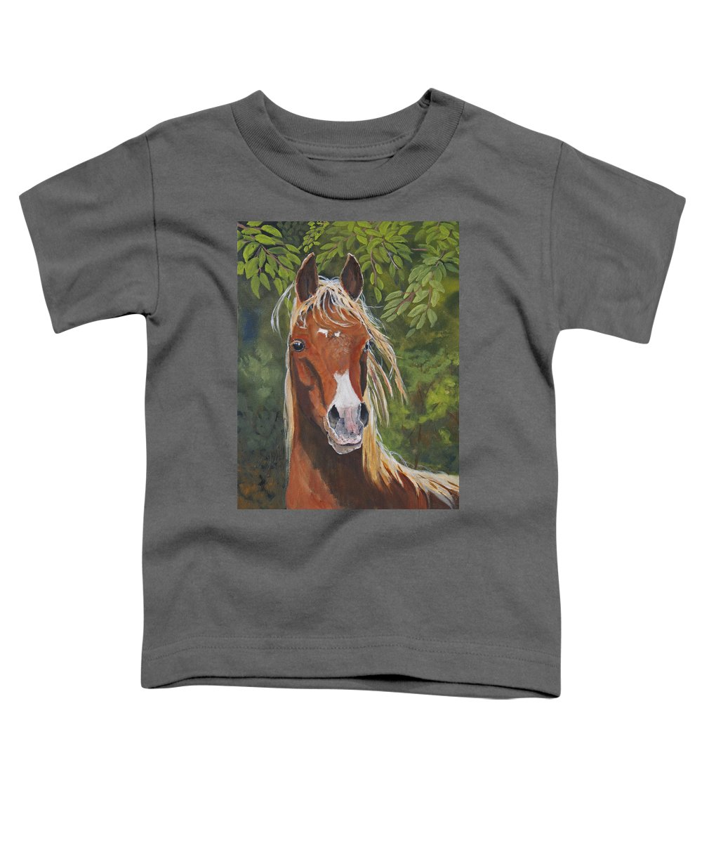 Horse Toddler T-Shirt featuring the painting Victory by Heather Coen
