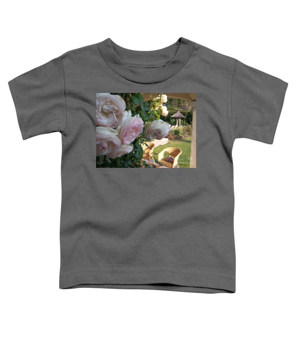 Roses Toddler T-Shirt featuring the photograph Villa Roses by Nadine Rippelmeyer