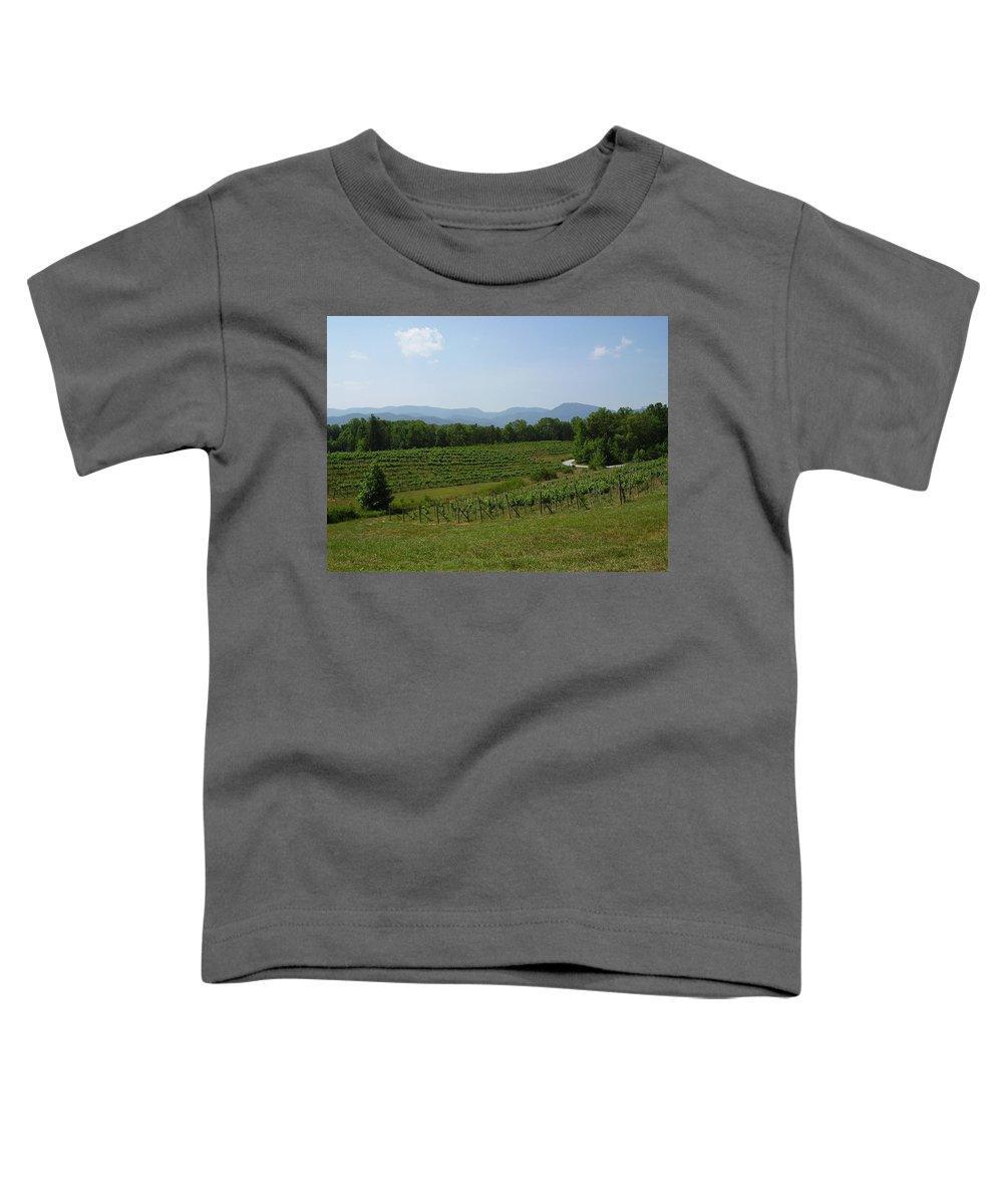 Vineyard Toddler T-Shirt featuring the photograph Vineyard by Flavia Westerwelle