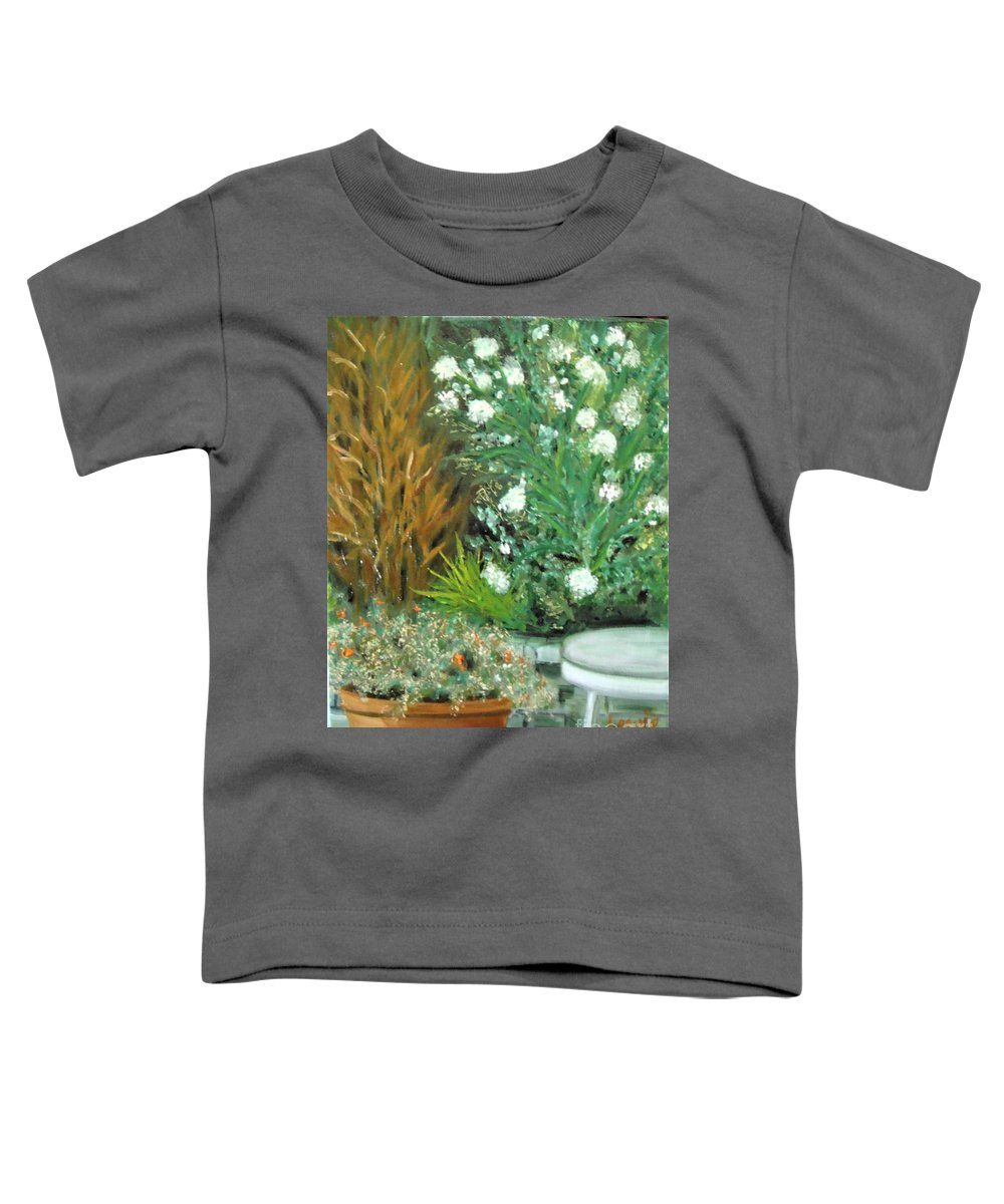Virginia Toddler T-Shirt featuring the painting Virginia's Garden by Laurie Morgan