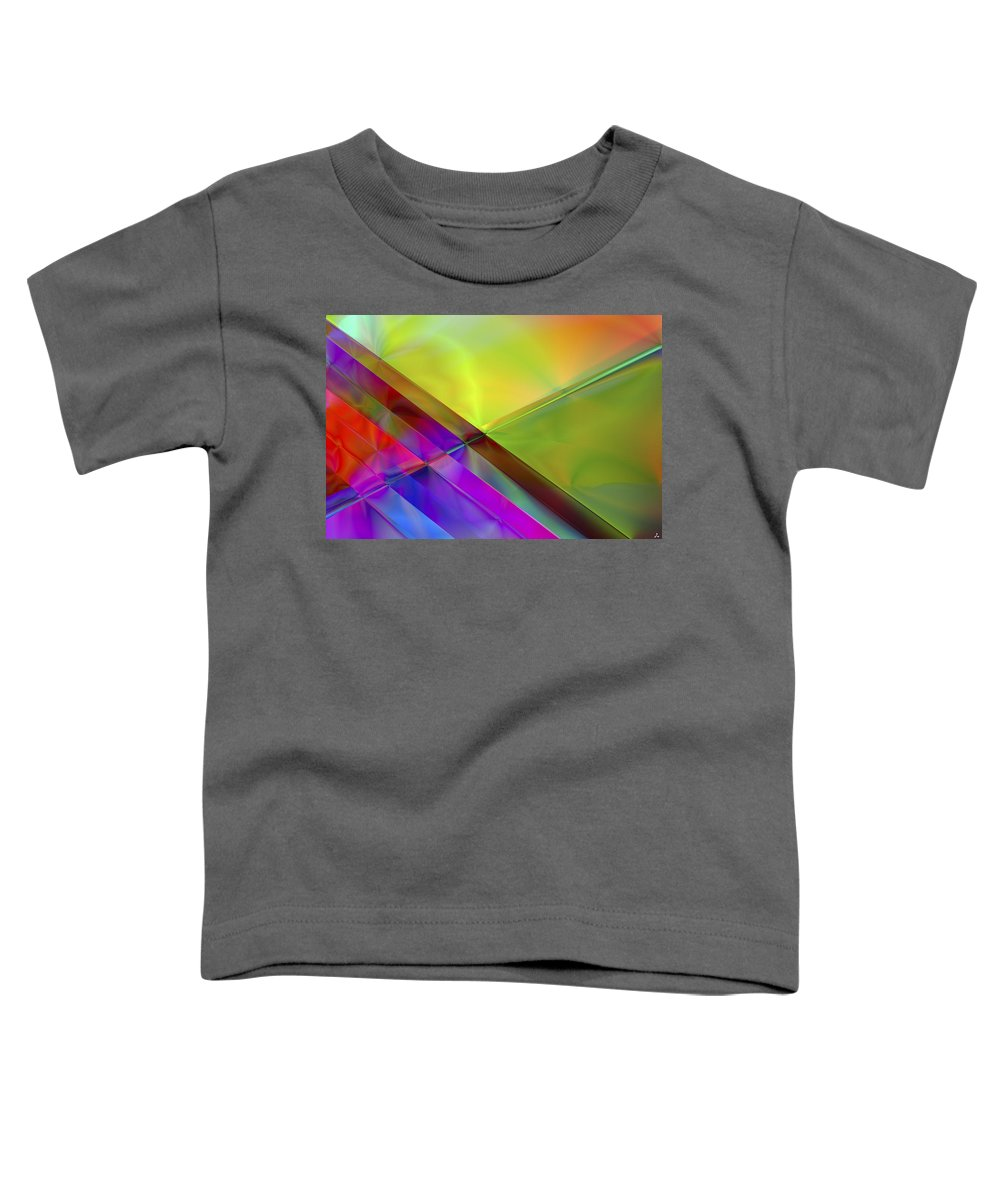 Colors Toddler T-Shirt featuring the digital art Vision 3 by Jacques Raffin