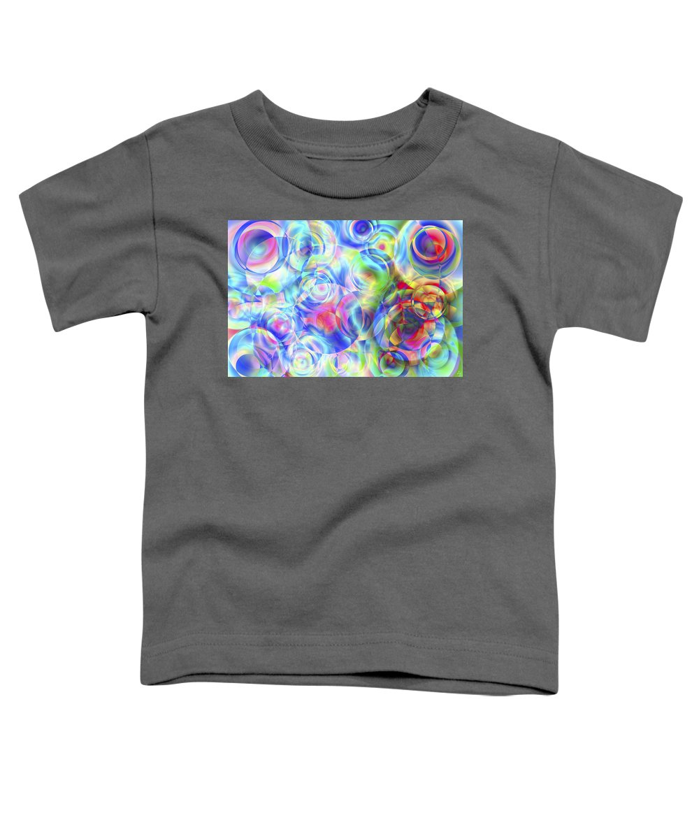 Colors Toddler T-Shirt featuring the digital art Vision 4 by Jacques Raffin