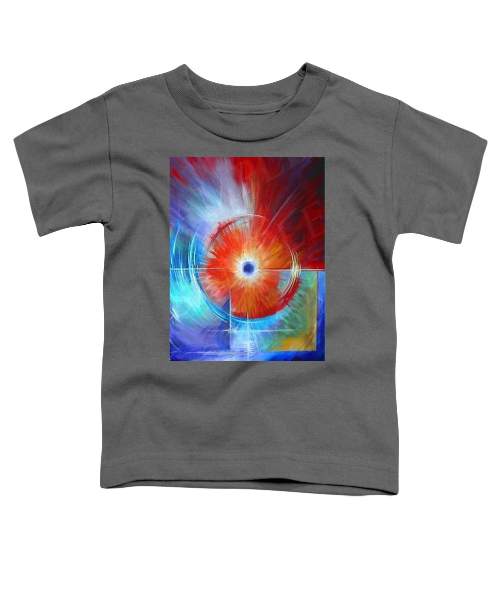 Clouds Toddler T-Shirt featuring the painting Vortex by James Christopher Hill